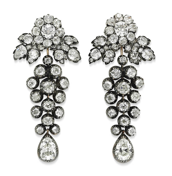ANTIQUE EARRINGS, circa 1880 from Simon Teakle
