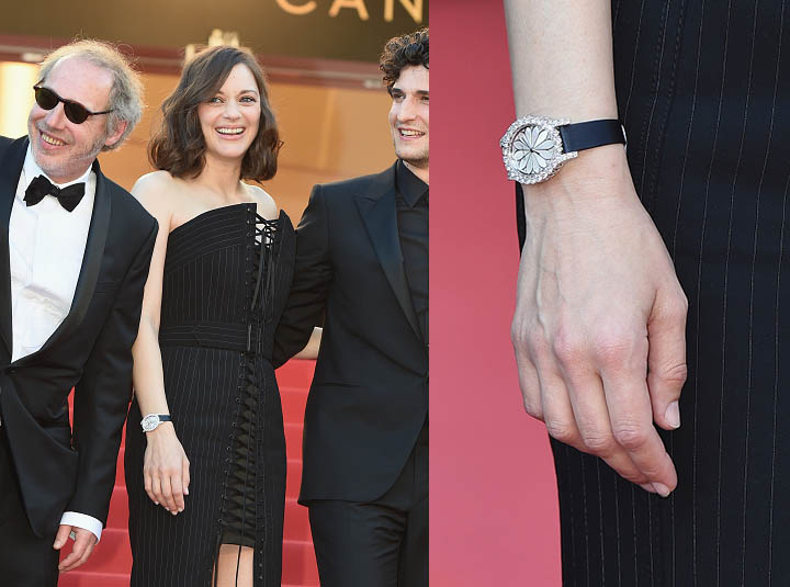 "CANNES, FRANCE - MAY 17: (L-R) Director Arnaud Desplechin and actors Marion Cotillard and Louis Garrel attend the ""Ismael's Ghosts (Les Fantomes d'Ismael)"" screening and Opening Gala during the 70th annual Cannes Film Festival at Palais des Festivals on May 17, 2017 in Cannes, France. (Photo by Stephane Cardinale - Corbis/Corbis via Getty Images)"