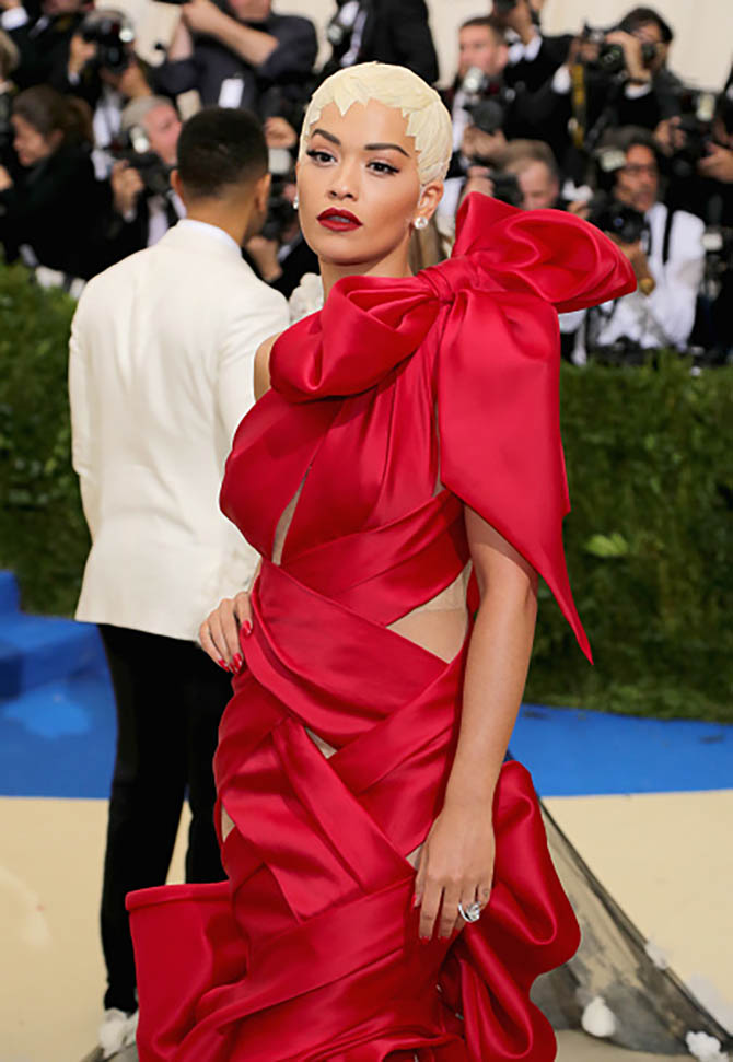Rita Ora in Lorraine Schwartz diamonds at the MET Gala