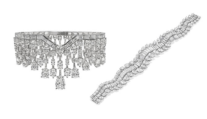 The Harry Winston diamond bracelets worn by Jennifer Lopez at the MET Gala Photo courtesy