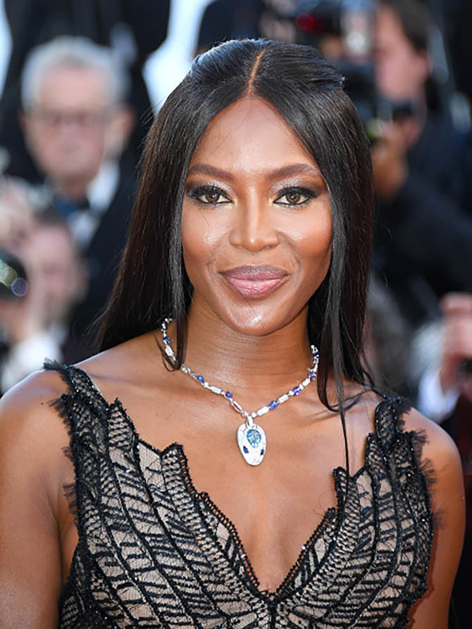 CANNES, FRANCE - MAY 23: Naomi Campbell attends the 70th Anniversary of the 70th annual Cannes Film Festival at Palais des Festivals on May 23, 2017 in Cannes, France. (Photo by Stephane Cardinale - Corbis/Corbis via Getty Images)