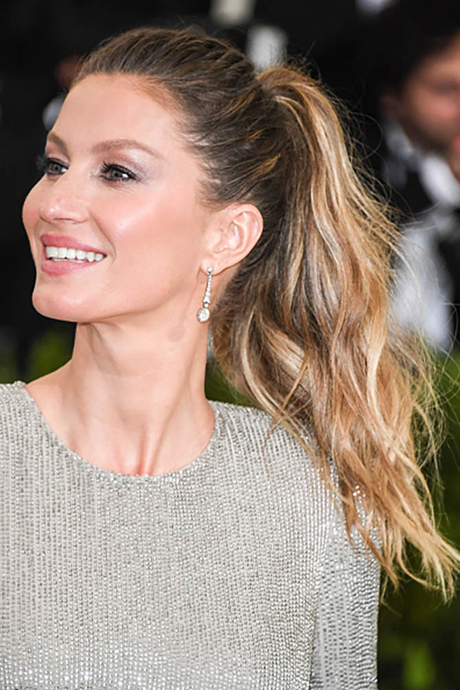 Gisele Bundchen in Neil Lane earrings at the MET Gala