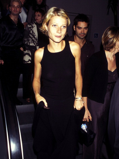 Gwyneth Paltrow wearing her Cartier Panthère watch at the 1997 'Boogie Nights' premiere. Photo by Ron Galella, Ltd./WireImage