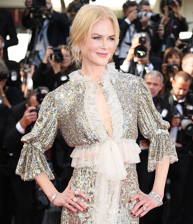 """CANNES, FRANCE - MAY 21: Nicole Kidman departs after the """"How To Talk To Girls At Parties"""" screening during the 70th annual Cannes Film Festival at on May 21, 2017 in Cannes, France. (Photo by Venturelli/WireImage)"""