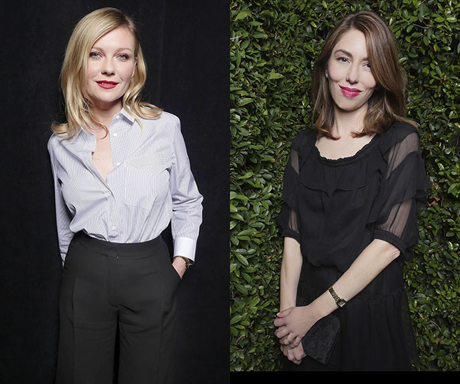 Kirsten Dunst and Sofia Coppola photographed at the Cartier Panthère Party in Los Angeles. Photo by Donato Sardella/Getty Images for Cartier