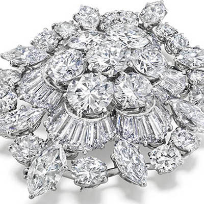 The Adventurine Posts At Auction: Elizabeth Taylor's Diamond Brooch