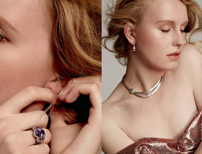 A model posing in jewels from Bayco Photo courtesy of Moda Operandi