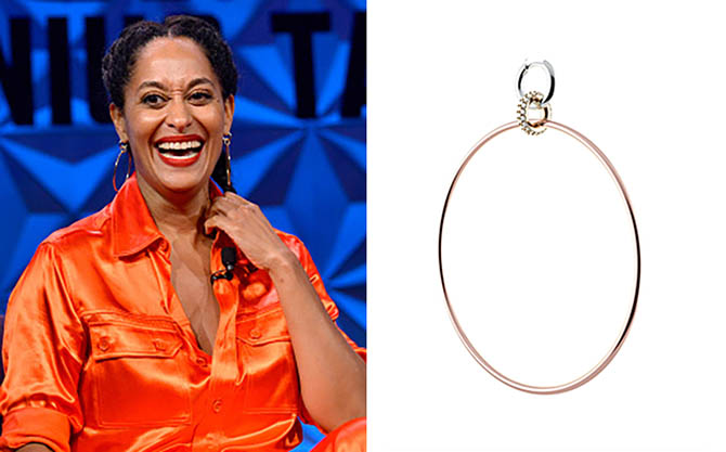 Tracee Ellis Ross at BET's Genius Talks wearing a Spinelli Kilcollin earrings. One of a pair of earrings by Spinelli Kilcollin. Photo Jerod Harris/Getty Image