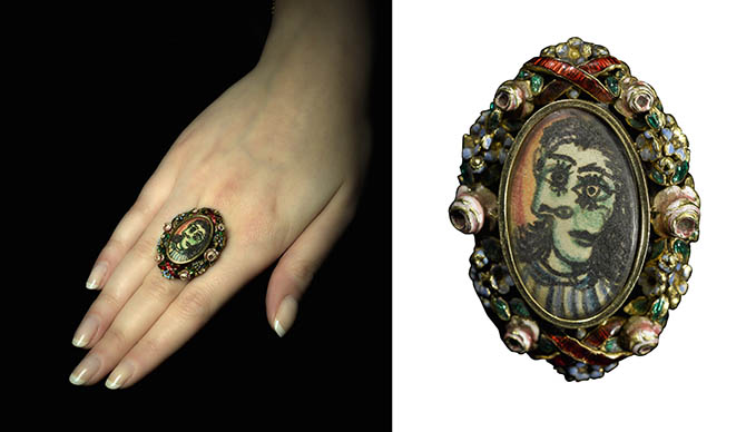The Picasso portrait ring created by the artist for Dora Maar in the late 1930s. Photo Sotheby's