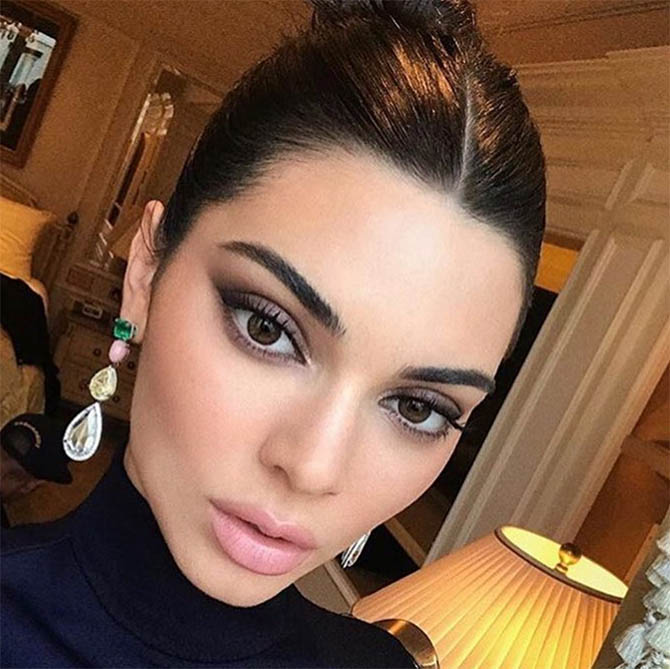 Kendall Jenner in earrings by Lorraine Schwartz valued at over $1-million. Photo