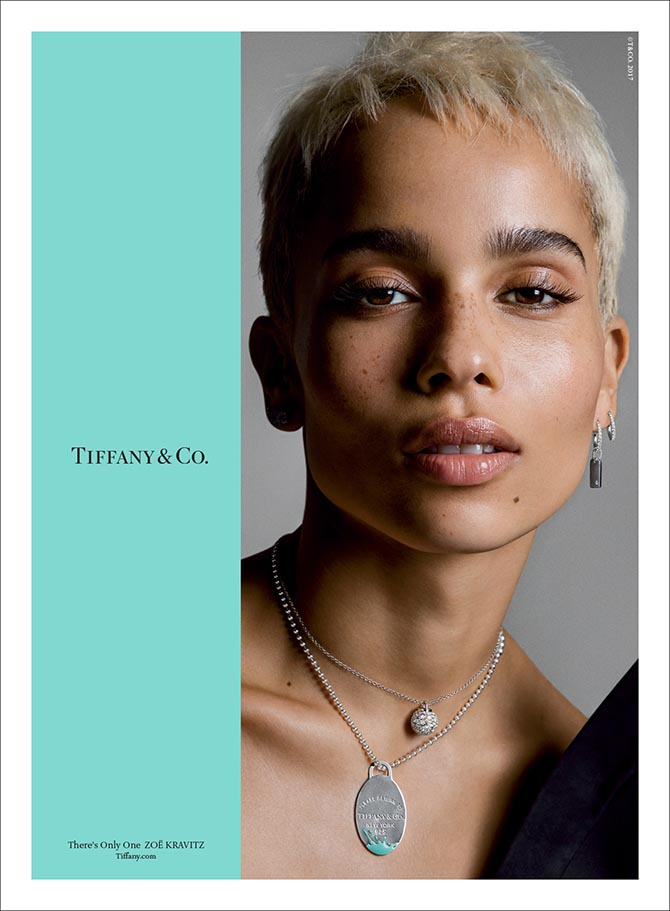 "Zoe Kravitz in Tiffany's ""There's Only One"" ad campaign Photo by Inez & Vinoodh"