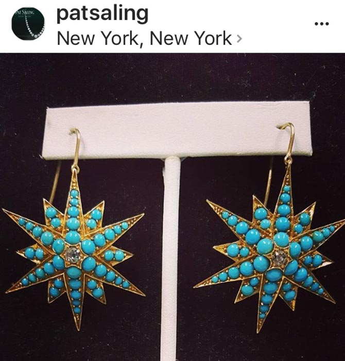 The perfect summer statement earrings from dealer Pat Saling. Photo @patsaling/Instagram