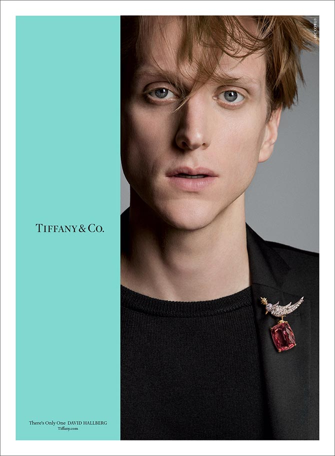 "David Hallberg in Tiffany's ""There's Only One"" ad campaign Photo by Inez & Vinoodh"