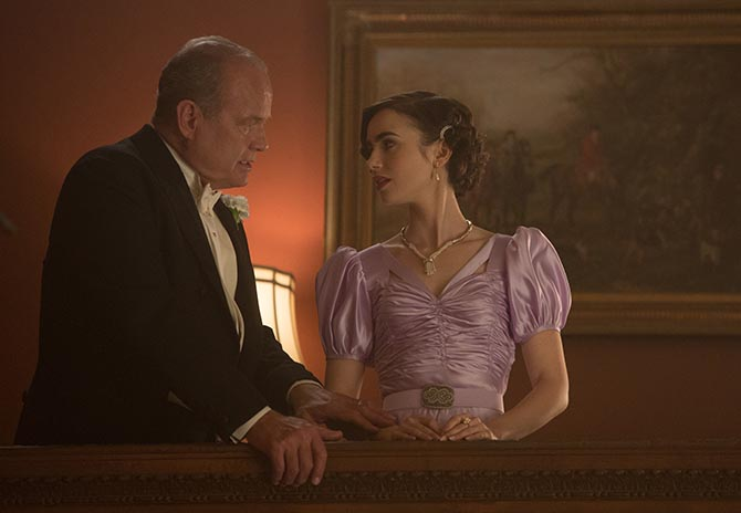 Kelsey Grammer and Lily Collins in 'The Last Tycoon' Photo Adam Rose/Amazon Prime Video
