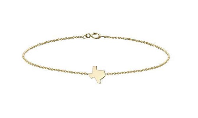 Finn Texas Charm 18K gold bracelet, $330 Photo courtesy