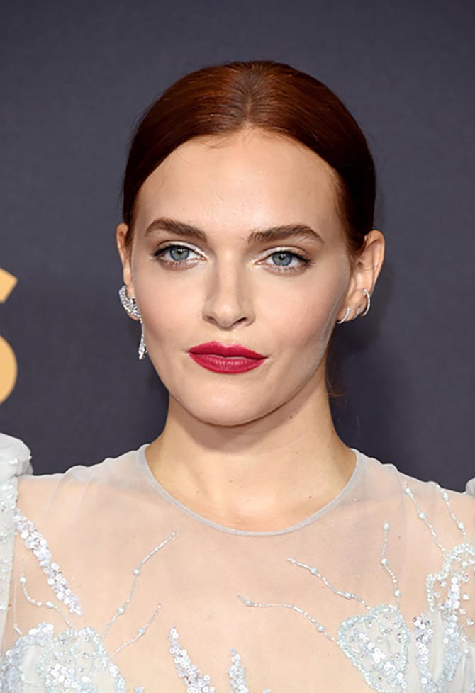 Madeline Brewer in mismatched earrings by Djula