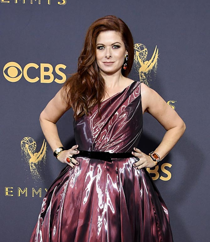 Debra Messing in jewels from David Webb