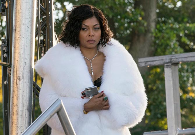 Taraji P. Henson wearing diamonds and furs in Season 3 of 'Empire' Photo Getty