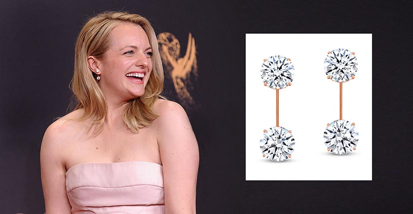 The AdventurinePostsElisabeth Moss' Stylist Designed Her Forevermark Diamond Earrings