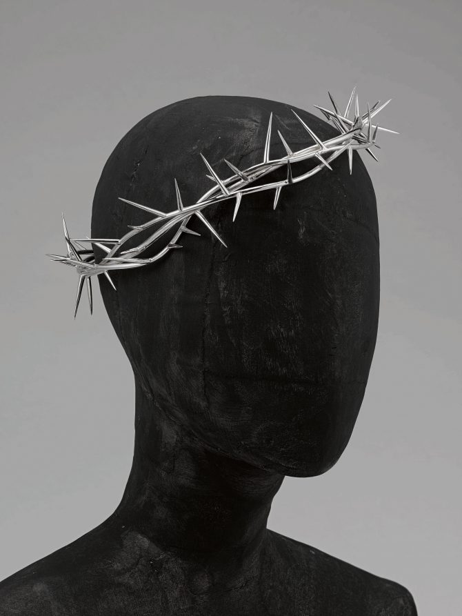 Shaun Leane for Alexander McQueen silver crown of thorns headpiece from the 'Dante' collection, Autumn-Winter, 1996-97. Sotheby's estimate $40,000/60,000. Photo courtesy