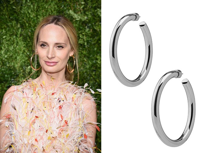 Lauren Santo Domingo in Jennifer Fisher hoops at the 14th Annual CFDA/Vogue Fashion Fund Awards at Weylin B. Seymour's on November 6, 2017 in the Brooklyn borough of New York City, New York. (Photo by Dimitrios Kambouris/Getty Images)
