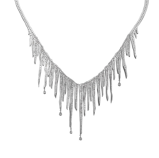 The diamond and white gold Icicle necklace from Solange Azagury-Partridge's Supernature collection.