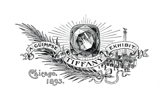 A drawing of the Tiffany Diamond was included in an announcement for the jeweler's display at the 1893 Chicago World's Columbian Exposition. Photo courtesy