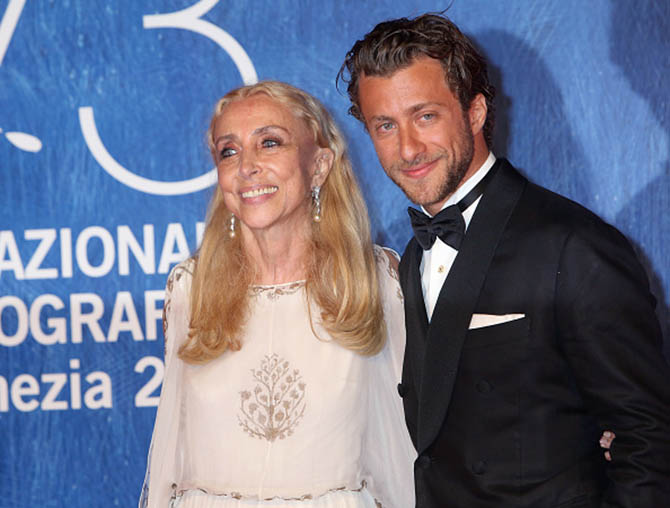 Franca Sozzani and Francesco Carrozzini attend the premiere of 'Franca: Chaos And Creation' during the 73rd Venice Film Festival at Sala Giardino on September 2, 2016 in Venice, Italy. Photo by Elisabetta A. Villa/WireImage