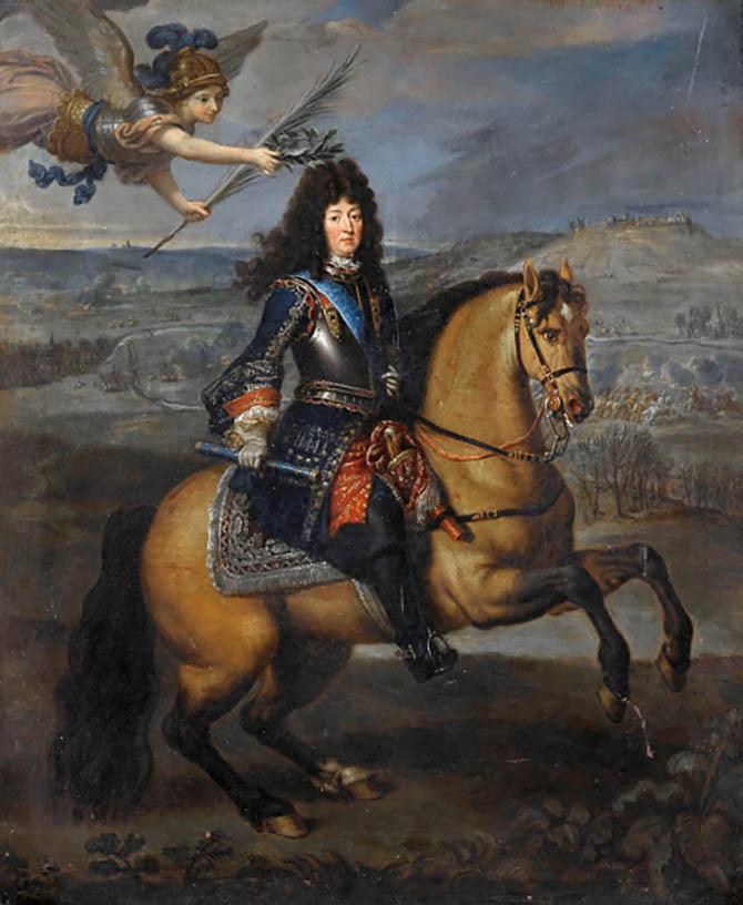 Portrait of Louis XIV at the Siege of Namur from the collection of Musée de l'Histoire de France, Château de Versailles. Photo Fine Art Images