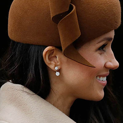 The Adventurine Posts Meghan Markle's Diamond Earrings