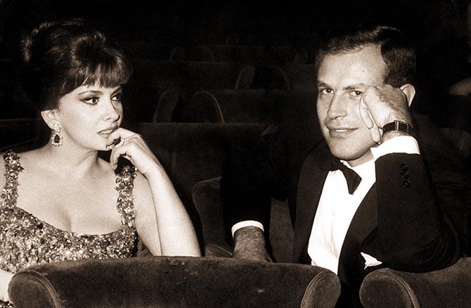 Gina Lollabridgida and Gianni Bulgari out together in the early 1960s. Photo Farabola