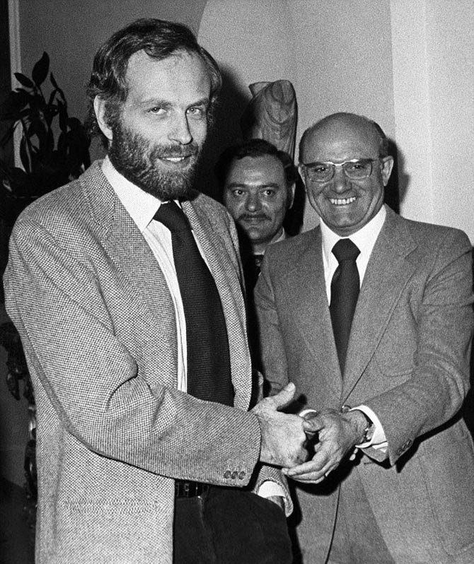Gianni Bulgari a few hours after being released from his captors on April 14, 1975. Photo AP