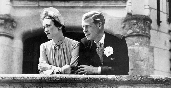 The Duke and Duchess of Windsor on their wedding day June 3, 1937 Photo Getty