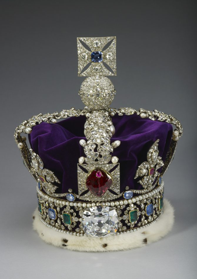 The Imperial State Crown featuring the Black Prince's ruby and the Cullinan II diamond. Photo Royal Collection