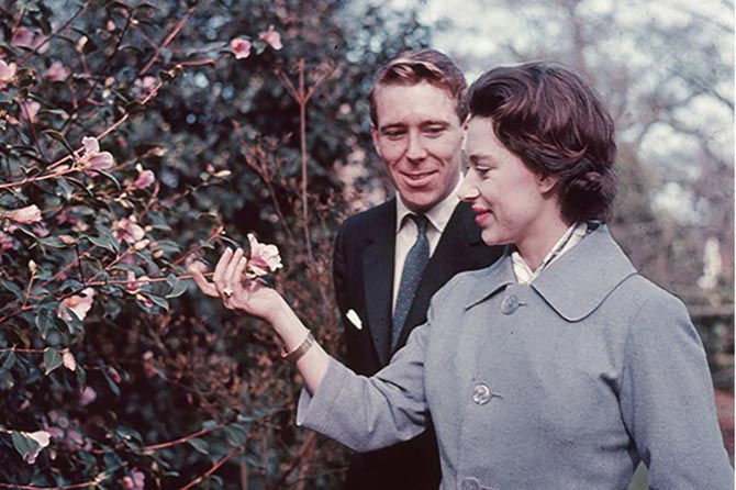 The real Princess Margaret and Antony Armstrong-Jones in the grounds of Royal Lodge on the day they officially announced their engagement February 27, 1960 Photo by Hulton Archive/Getty Images