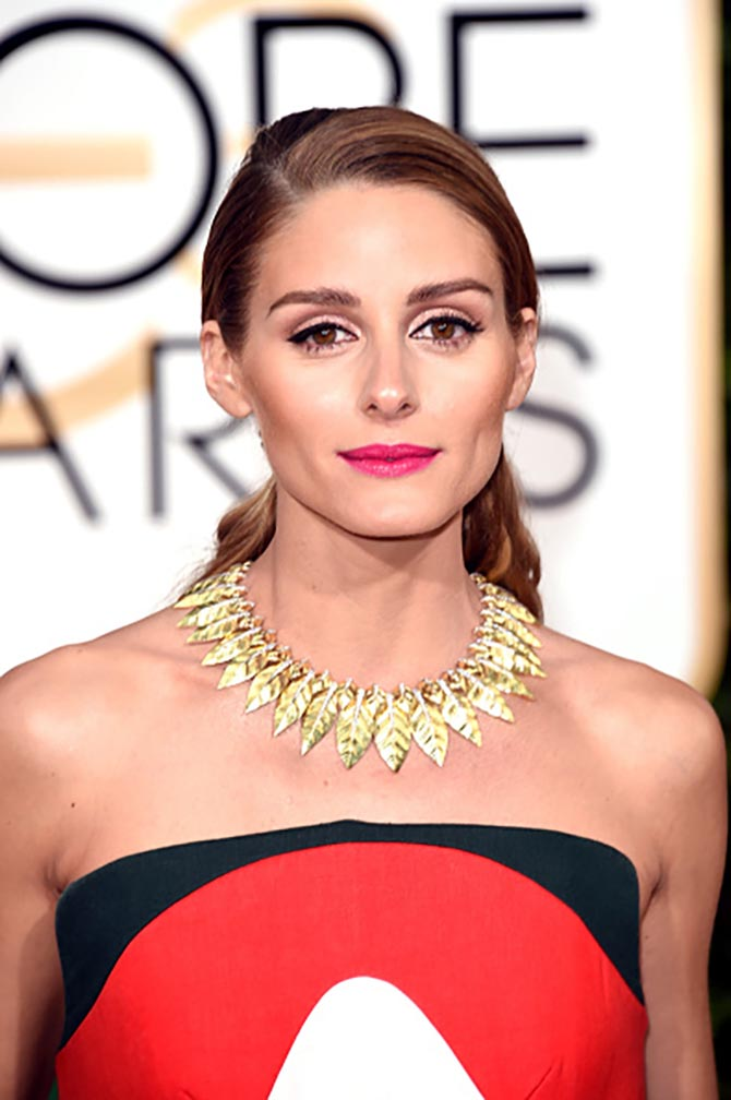 Olivia Palermo in a David Webb necklace at the 2016 Golden Globe Awards. Photo by Jason Merritt/Getty Images