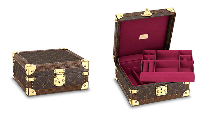 Jewelry box by Louis Vuitton. Photo courtesy