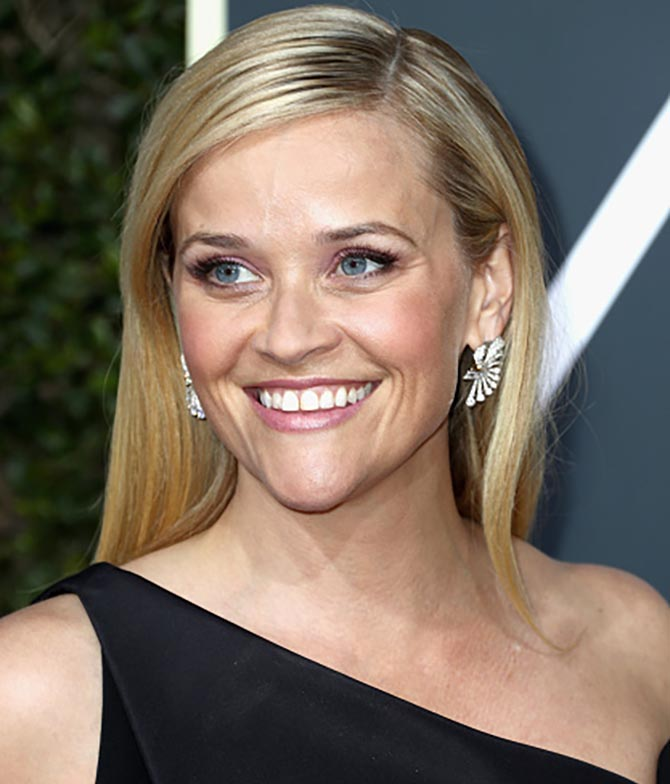 Reese Witherspoon attends The 75th Annual Golden Globe Awards at The Beverly Hilton Hotel on January 7, 2018 in Beverly Hills, California. (Photo by Frederick M. Brown/Getty Images)