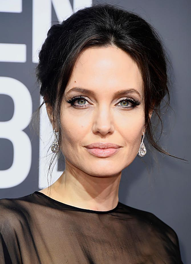Angelina Jolie in earrings by Forevermark