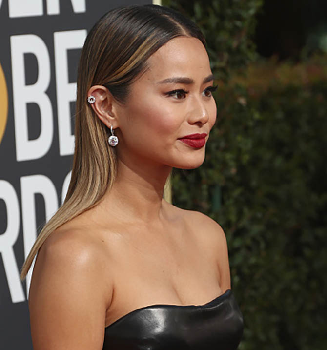 Jamie Chung in Chopard at The 75th Annual Golden Globe Awards