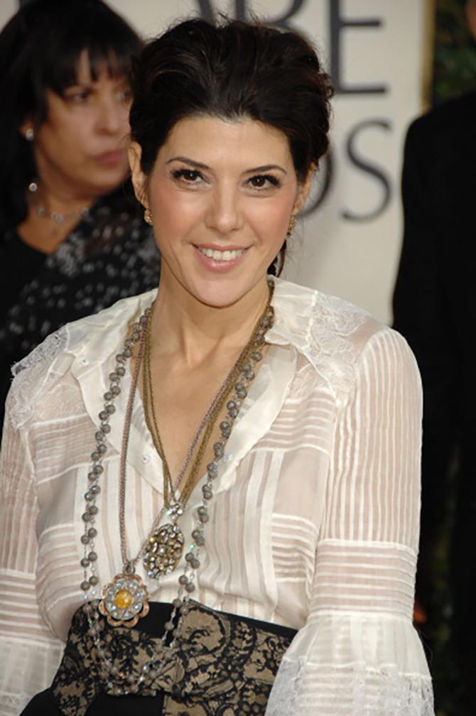 Marisa Tomei in Neil Lane necklaces at the 2009 Golden Globe Awards. Photo by George Pimentel/WireImage