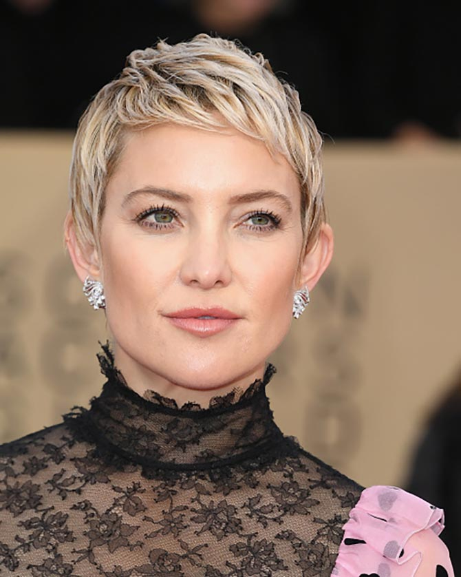 Kate Hudson in Forevermark earrings at the 24th Annual Screen Actors†Guild Awards.