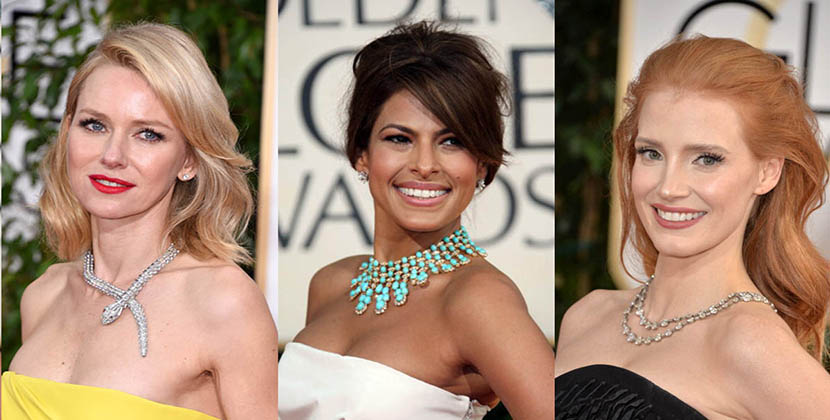 The Adventurine Posts The Best Necklaces at the Golden Globes Ever!