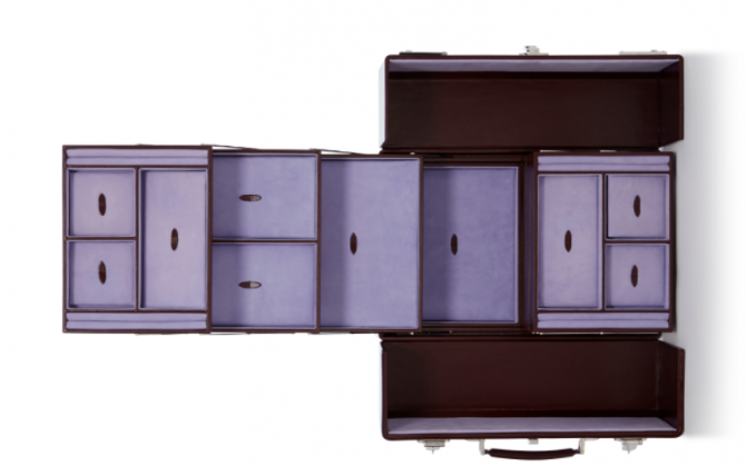 Large Leather Cantilever Jewelry Box by Asprey Photo via Moda Operandi