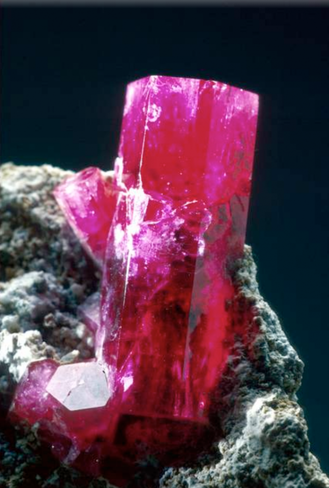 Red Beryl from the National Gem Collection at the Smithsonian. Photo Chip Clark