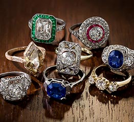 The Adventurine Posts Lang Antiques Has 600 Vintage Engagement Rings