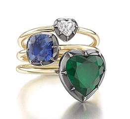 The Adventurine Posts Jessica McCormack's Chic Heart Rings