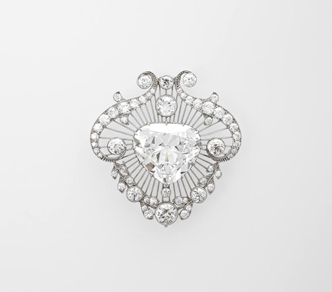 The Cullinan V diamond brooch Photo courtesy of The Royal Collection