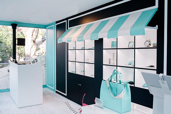 Interior view of the Tiffany pop up at the Grove in Los Angeles. Photo Tiffany