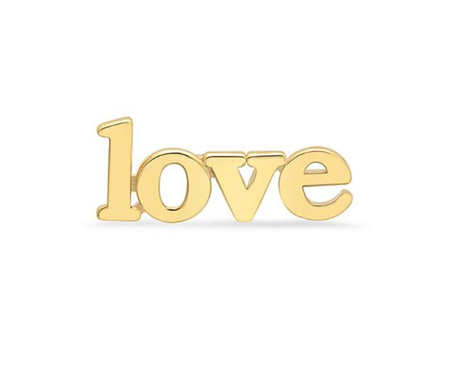 Jennifer Meyer 18K Gold Love Stud, $275
